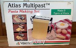 Vintage Marcato Atlas Multipast Pasta Making Machine Set, 5 Piece Set, Italy