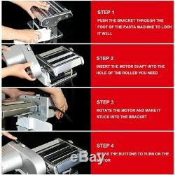 Yunko Electric Pasta Maker Machine with Motor Set Stainless Steel Pasta Roller