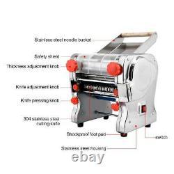 110v Automatique Electric Pasta Press Maker Dumpling Wonton Skin Noodle Machine Us