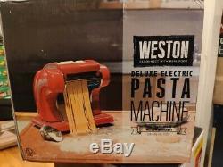 120 Volt Rouge Métal Électrique Countertop Pasta Maker Nouilles Machine
