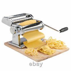 5 En 1 Pasta Maker Machine Lasagne Spaghetti Ravioli Tagliatelle Acier Inoxydable