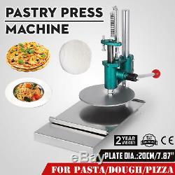 7.8inch Manuelle Feuille Machine Pâtisserie Presse Pizza Crust Chapati Pasta Maker 20cm