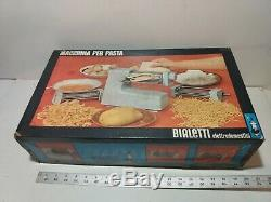 Bialetti Pasta Électrique Nouilles Maker Machine Chef Cuisinier Pro De Rouleaux Métalliques Italie
