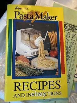 Boîte Ouverte Popeil Automatic Pasta Maker Machine Recipe Book Accessoires Tees