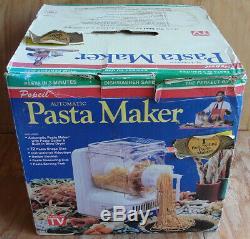 Brand New Popeil P400 Pasta Automatique Maker Machine & Accessoires + Recettes Vhs