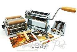 Deluxe Atlas Marcato Pasta Reine Machine Avec Nouilles Faire Raviolissima Ravioli