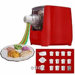Électric Pasta Makers, Home Machine Automatique Noodle Extruder, 12 Noodle Red