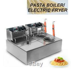 Électrique Noodle La Cuisson Des Pâtes Machine Friteuse Double Countertop Cylindre
