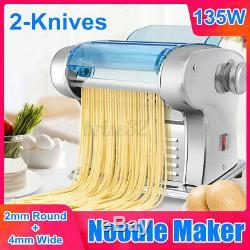 Électrique Noodle Machine De Presse Pasta Maker Pâte Cutter Dumplings Rouleau 135w