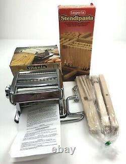 Imperia Pasta Maker Machine Et Stendipasta Drying Rack À La Fois Nouveau Vieux Stock