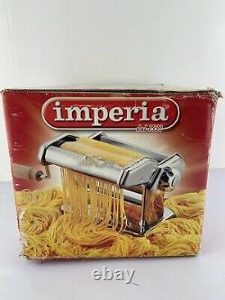 Imperia Pasta Maker Machine Heavy Duty Red Steel Sp-150 Made In Italy Never Used