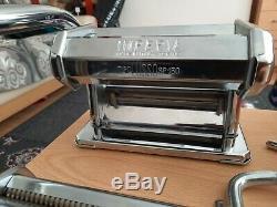 Imperia Pasta Maker Machine Sp150 En Acier Inoxydable, Véritable Italie A Fait, Jamais Utilisé