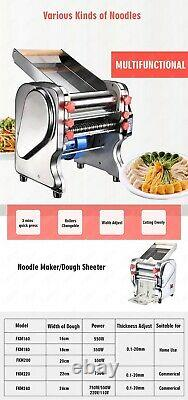 Laminoir Électrique Commercial Dough Feuiller Noodle Pasta Dumpling Maker Machine