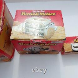 Lot Imperia Pasta Maker Machine Modèle 150 Ravioli Simplex Fabriqué En Acier Italie