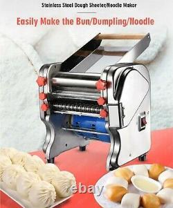 Machine De Fabricant De Pâtes De Nouilles Avec Le Rouleau De Pâte Changeable Et La Lame Électrique