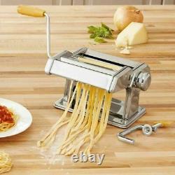 Machine De Fabricant De Pâtes En Acier Inoxydable Tagliolini Fettuccine Lasagne Cutter Roller
