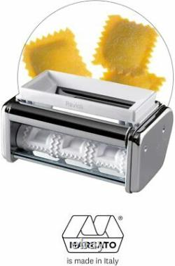 Machine De Fabrication De Pâtes Marcato Atlas Acier Inoxydable 150 Ravioli Pièce Jointe Argent