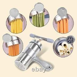 Machine Pour Faire La Machine De Pâtes Des Nouilles De L'acier Inoxydable Avec 5 Moules