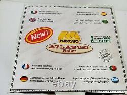 Marcato 8320 Atlas 150 Machine À Pâtes, Y Compris Cutter De Pâtes & Crane À Main Argent