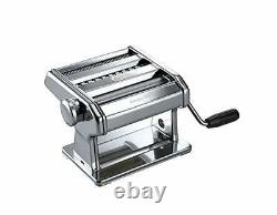 Marcato 8356 Atlas Ampia Pasta Machine, Made In Italy, Chrome Plated Steel, Silv