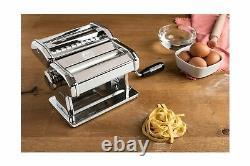 Marcato Atlas 150 Pasta Machine, Fabriqué En Italie, Comprend Coupeur, Manivelle À Main