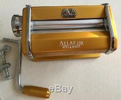 Marcato Atlas 150 Pasta Machine Made In Italy Gold Argile Polymère