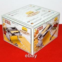Marcato Atlas 150 Pasta Maker Rouleau Machine De Nouilles Spaghetti Inoxydable Italie
