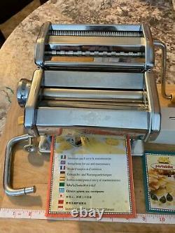 Marcato Atlas 150 Pâtes Machine Comprend Pâtes Bike Cutter & Manual Maker Presse