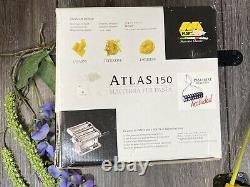 Marcato Atlas 150 Wellness Italian Pasta Machine Acier Inoxydable + Bonus