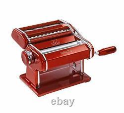 Marcato Atlas Light Alloy 150 Pasta Maker Machine, Rouge