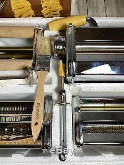 Marcato Atlas Multipast 5 Pasta Maker Machine Lasagne Ravioli Spaghetti Clean