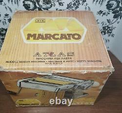 Marcato Atlas Pasta Maker Modèle 150 Deluxe Hand Crank Machine Made In Italy Wbox
