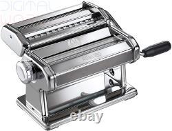 Marcato Machine Manuelle À Pâtes Avec Feuille De 180 Mm, Acier Chrome, Argent, 24 X