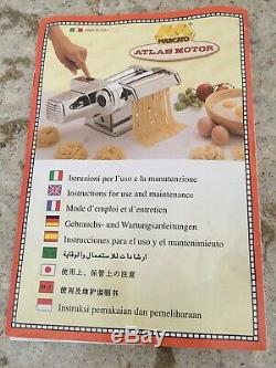 Marcato Pasta Atlas Machine 150 Deluxe Attachment Moteur Électrique Made In Italy