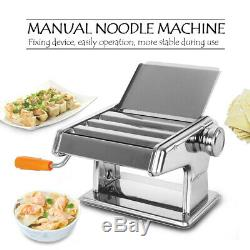 Ménage Machine Manuelle Rouleau De Nouilles Pâtes En Acier Inoxydable Maker Boulette Peau