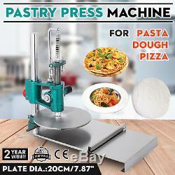 New 7,8 Pouces Pâte À Pizza Manuel Pastry Machine De Presse Rouleau Laminoir Pasta Maker