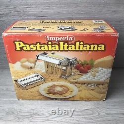 New & Boxed Imperia (pastaia Italiana) Machine À Faire Des Pâtes Avec Des Inserts