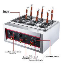 New Electric 6 Trous Noodles Gazinière Avec Filtre Pâtes Commercial Cuisine Machine