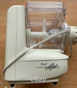 Nib Popeil P400 Pasta Automatique Maker Food Machine Préparateur 12 Dies Ronco Nouveau