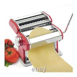 Norpro 1049r Pasta Machine Silver Red Avec Pasta Machine Motor