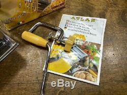 Nos Atlas Marcato Nouveau Machine À Pâtes # 150 Nib / Fait Des Spaghettis Ronds Et Plats