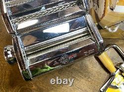 Nouveau Nos Marcato Atlas Pasta Machine # 150 Nib / Fait Spaghetti Rond Et Plat