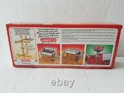 Nouvelle Imperia & Boxed (pastaia Italiana) Fabrication De Pâtes Machine & Raquette De Séchage