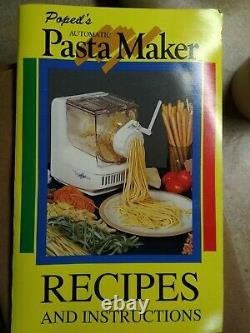 Popeil P400 Ronco Automatic Pasta Maker Machine 24 Dies Accessoires + Livre