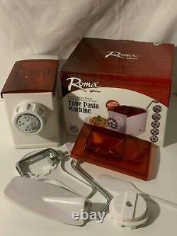 Roma Par Weston Tube Pasta Machine 5 Pasta Discs Dough Mixing Kit Penne Rigatoni