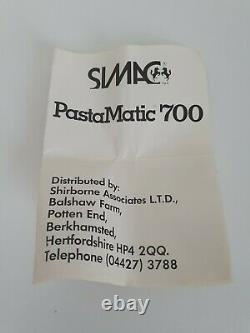 Simac Pasta Matic 700 Machine À Pâtes Maison Spaghetti Tagliatelle Vintage