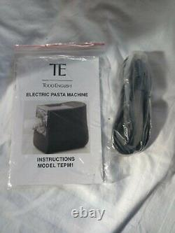 Todd Anglais Vertical Release Electric Pasta Machine Modèle Tepm1 Red New Nob