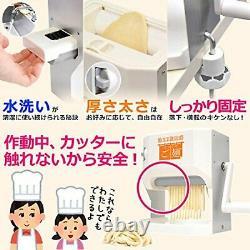 Versos Noodle Maker Machine Japonais Udon Soba Pasta Fabricant Vs-ke Lavable F/s