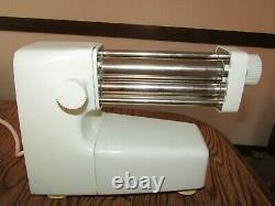 Vintage Bialetti Electric Pasta Noodle Maker Machine Italie Rouleaux Métalliques