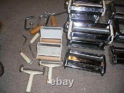 Vintage Italie Imperia Sp150 2 Pâtes + 2 Ravioli Machine Maker Heavy Acier